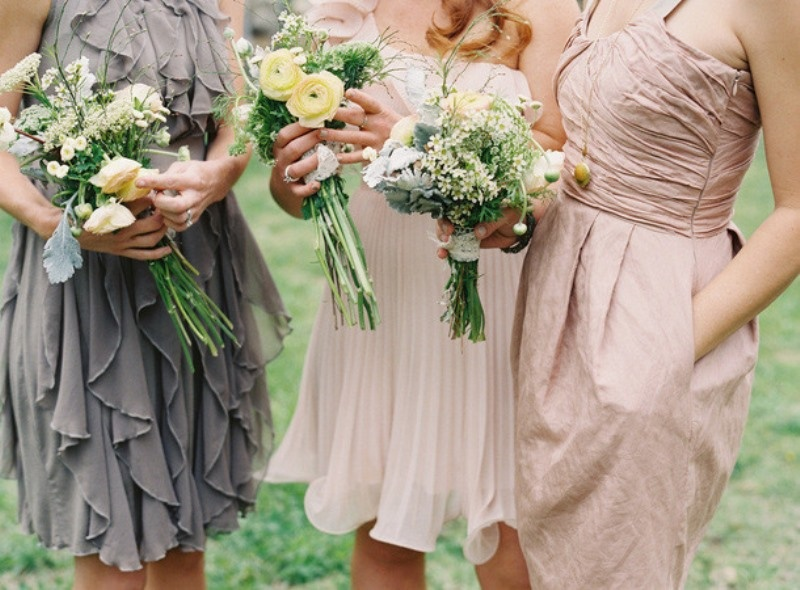 Picture Of charming bridesmaids dresses with ruffles  16