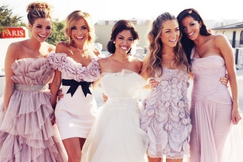 Picture Of charming bridesmaids dresses with ruffles  17
