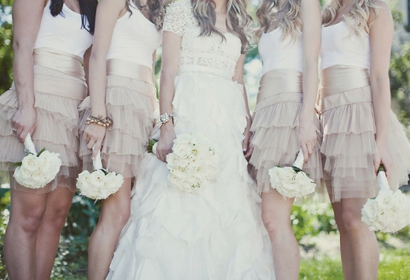 Picture Of charming bridesmaids dresses with ruffles  19