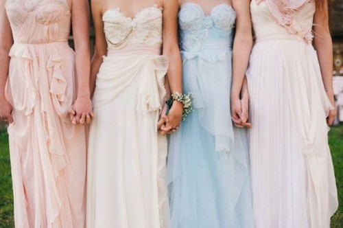 Charming Bridesmaids' Dresses With Ruffles
