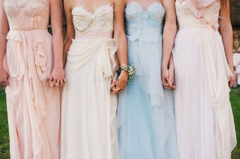 Picture Of charming bridesmaids dresses with ruffles  2