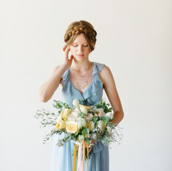 Picture Of charming bridesmaids dresses with ruffles  4