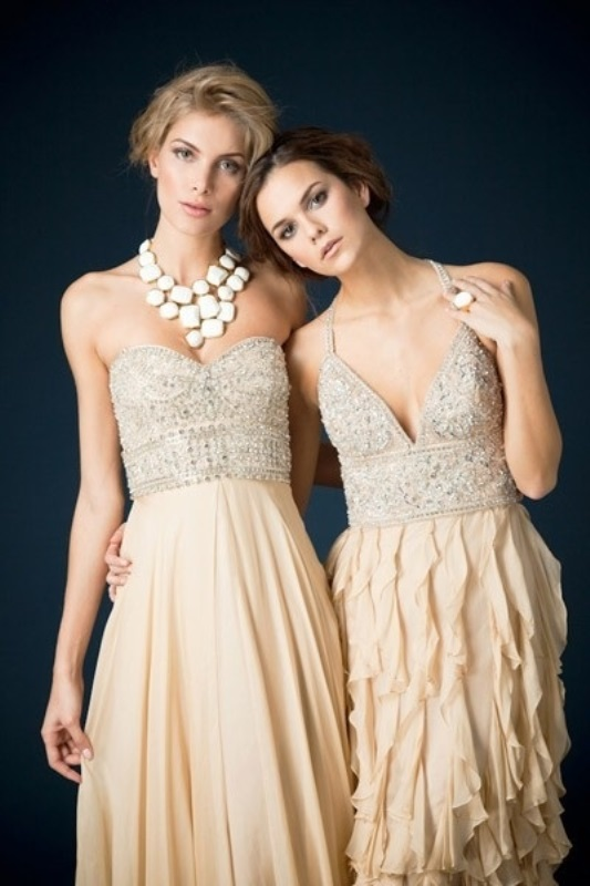 Picture Of charming bridesmaids dresses with ruffles  9