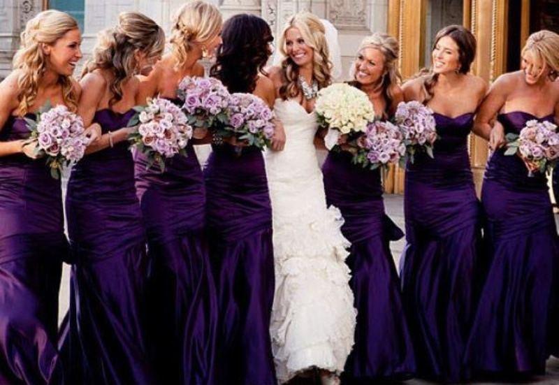 19 Luxurious Shades Of Purple Bridesmaids' Dresses - Weddingomania