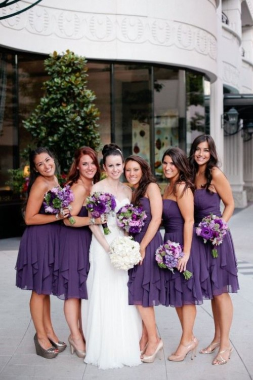 19 Luxurious Shades Of Purple Bridesmaids' Dresses