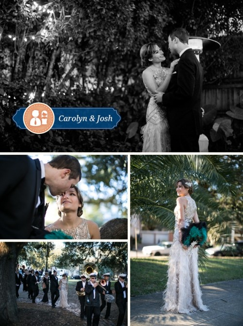 1920s-Inspired New Orleans Wedding With Modern Elements