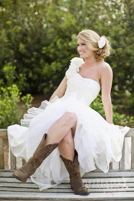 country wedding dresses with cowboy boots 20 country styled fall wedding boots ideas for a 3129