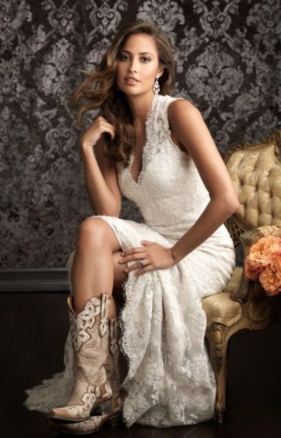 Cowgirl Boots For Wedding Dress 89 Unique Country Styled Fall Wedding