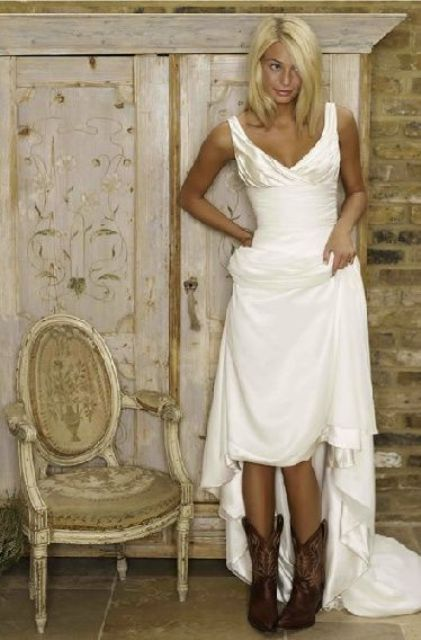 Cowgirl Boots For Wedding Dress 44 Popular Country Styled Fall Wedding
