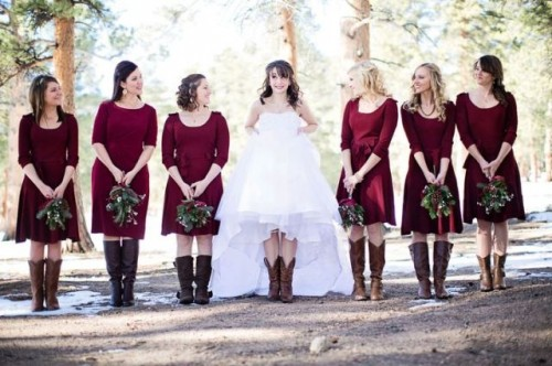 Cowgirl Boots For Wedding Dress 4 Trend Country Styled Fall Wedding