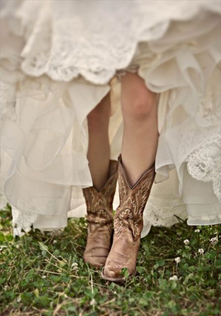 Cowgirl Boots For Wedding Dress 94 Superb Country Styled Fall Wedding