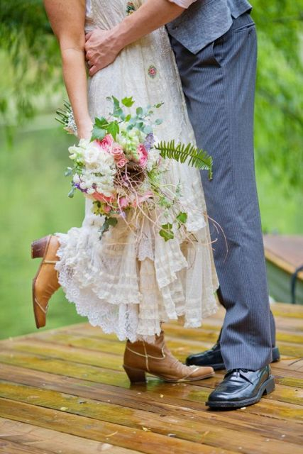 Cowgirl Boots For Wedding Dress 59 Lovely Country Styled Fall Wedding