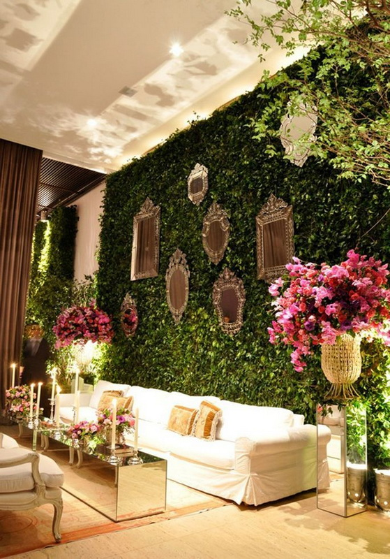 Picture Of Fresh And Beautiful Greenery Wedding Backdrops 12