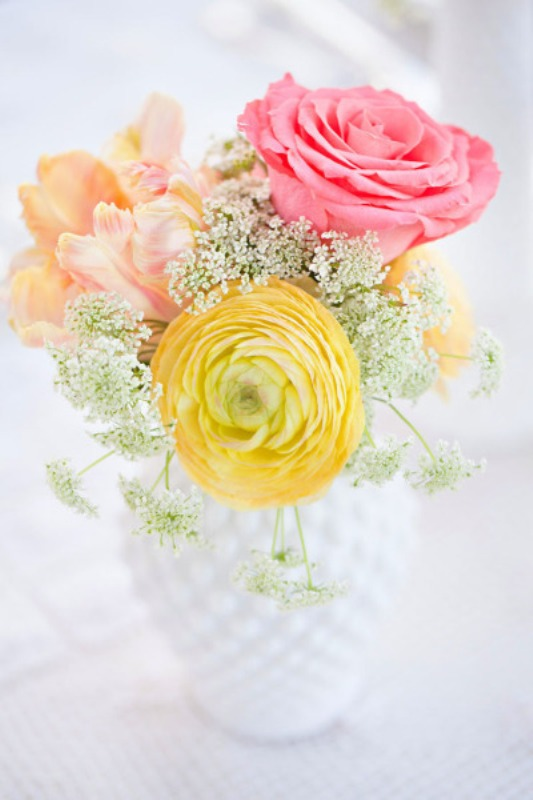 Fresh Yellow And Salmon Spring Wedding Inspirational Ideas