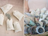 dried lavender is a great alternative to usual confetti, they are eco-friendly and bring a natural aroma