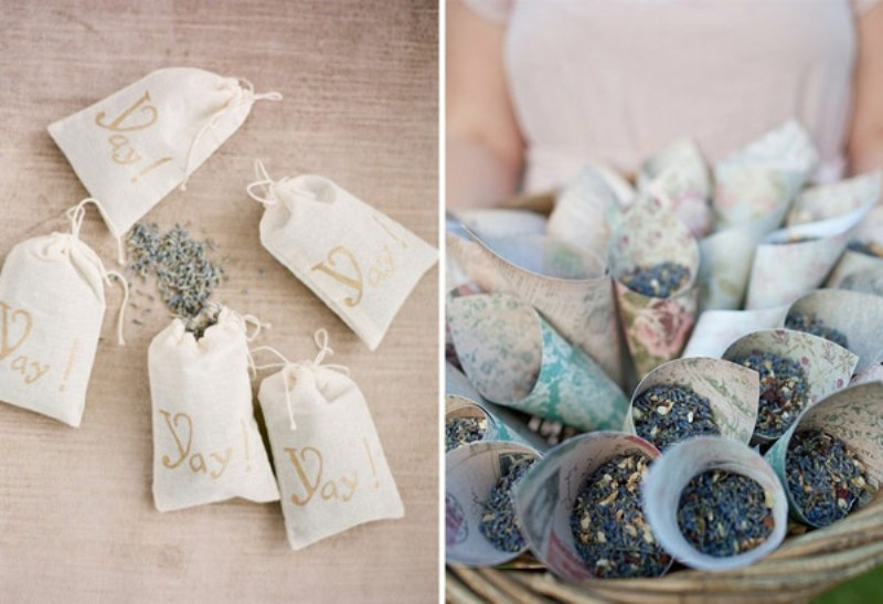 dried lavender is a great alternative to usual confetti, they are eco friendly and bring a natural aroma