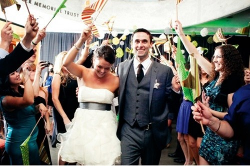 colorful flags are a nice alternative to confetti, they are easily reusable and very cute