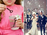 bubbles are amazing instead of confetti, this is an amazing idea for a dreamy touch