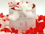 red and white rice butterflies are creative alternative and a very eco-friendly idea as they are easily degradable and recyclable