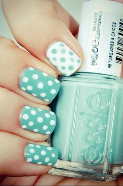 Playful And Fancy Wedding Nails Ideas