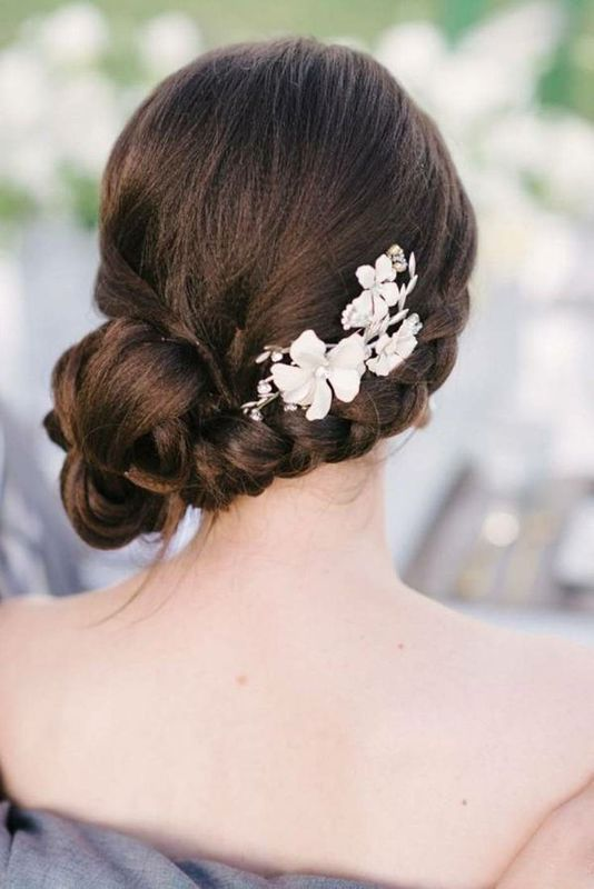 Picture Of Strikingly Gorgeous Side Updo Wedding Hairstyles