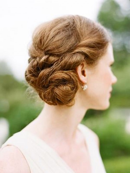 a twisted side updo with a textural top is a chic and elegant hairstyle idea to go for