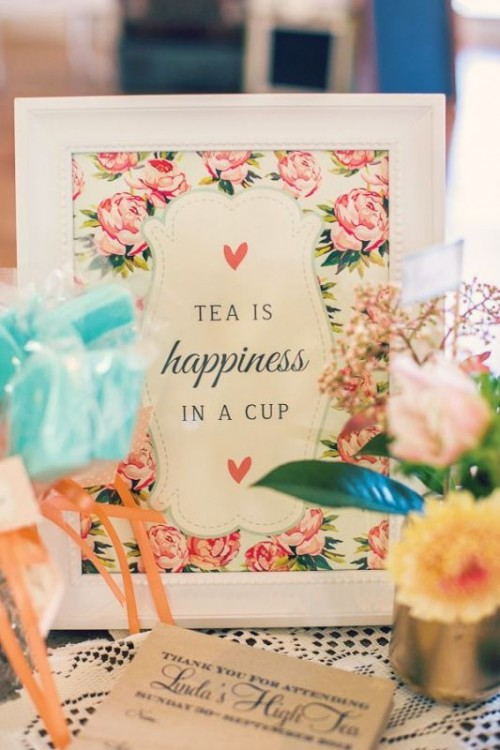 Sweet Tea Party Bridal Shower Ideas
