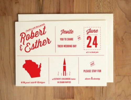 cool wedding invitations | wedding design ideas, Wedding invitations