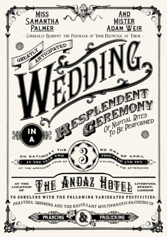 Picture Of Unique Wedding Invitations To Inspire