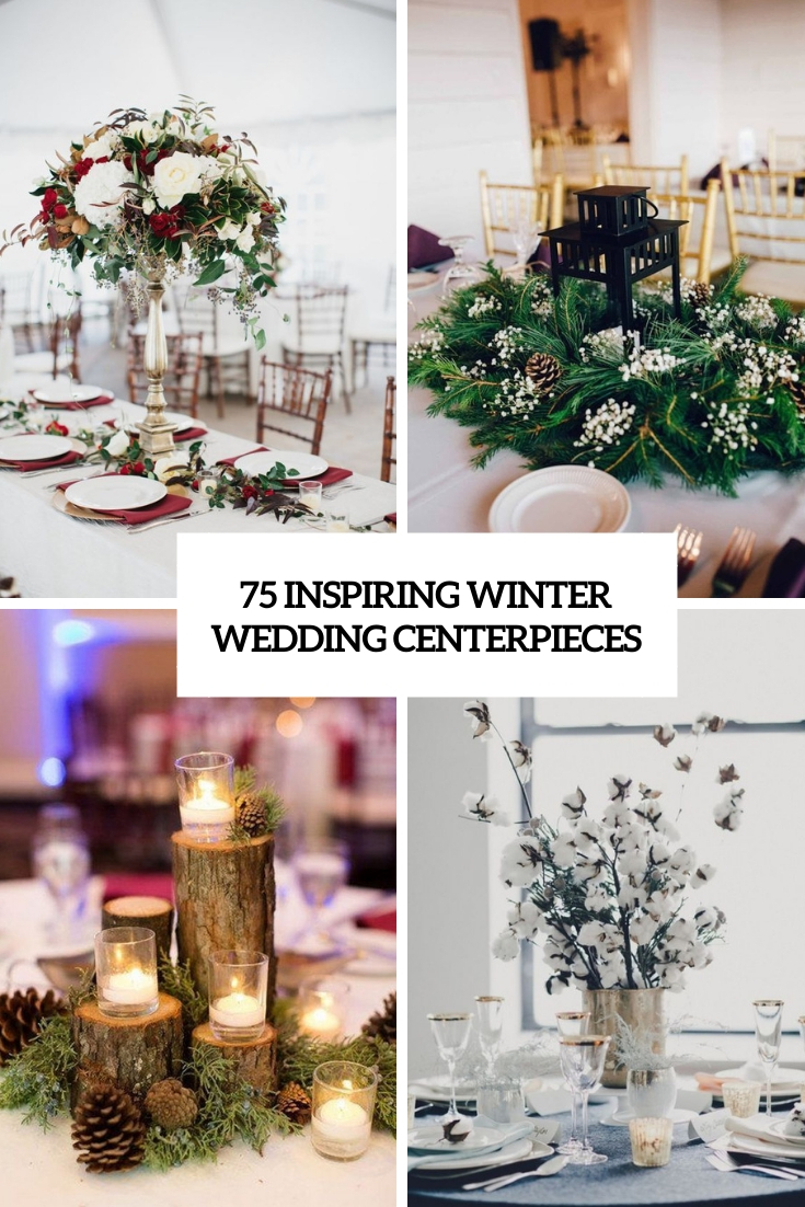 75 Inspiring Winter Wedding Centerpieces - Weddingomania