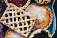 berry pies can be a nice alternative to a usual wedding cake, they will make your wedding feel homey and cozy