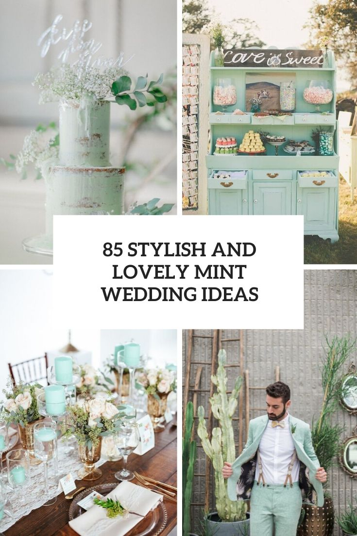 stylish and lovely mint wedding ideas cover