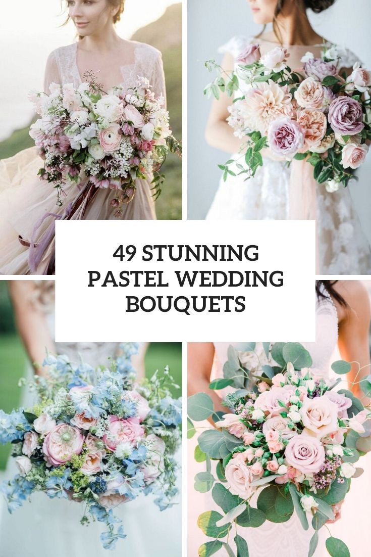stunning pastel wedding bouquets cover