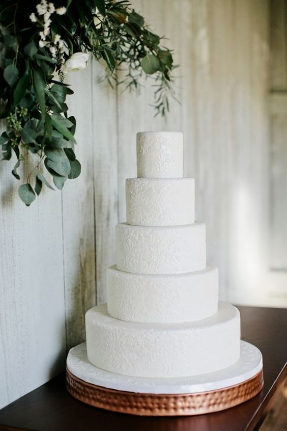 a large purely white lace wedding cake is a gorgeous idea with much style and elegance that inspires