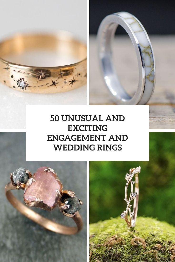 50 Unusual And Exciting Engagement And Wedding Rings