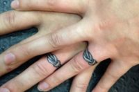 Cute knot wedding tattoos to tie the knot word-to-word
