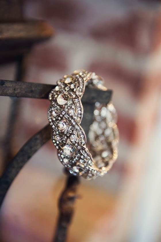 a braided fully embellished with diamonds wedding or engagement ring is an adorable idea