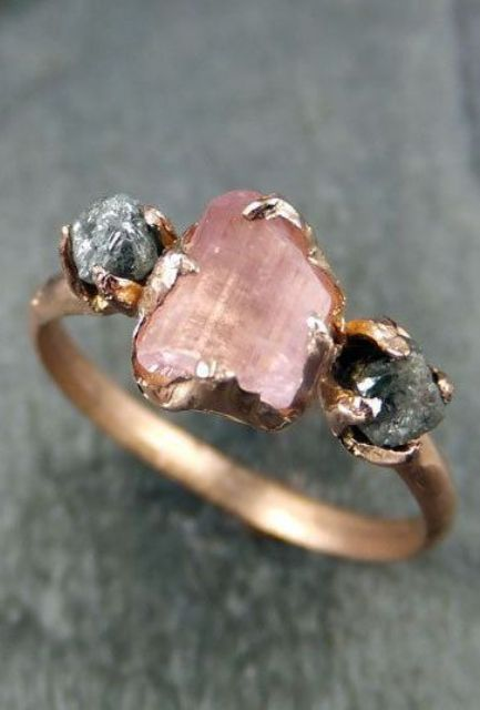 a druzy engagement or wedding ring looks raw, beautiful and very unusual, no one else will have a ring like you