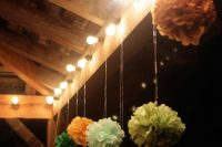 hang some pastel paper pompoms wherever you want to add a festive feel