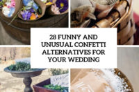 28 funny and unusual confetti alternatives for your wedding cover
