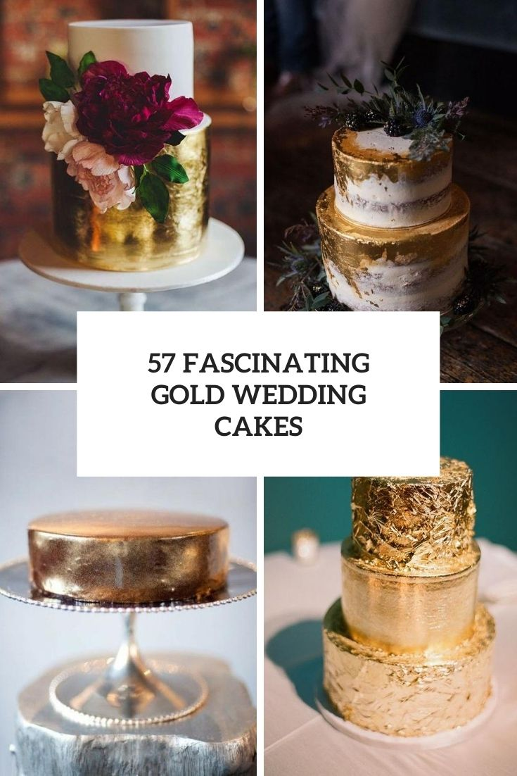 57 Fascinating Gold Wedding Cakes