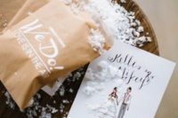 faux snow is amazing for a winter wedding, especially if you are lacking real snow in your location