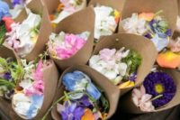 fresh blooms are amazing for spring and summer weddings, they are very eco-friendly, gather them yourself