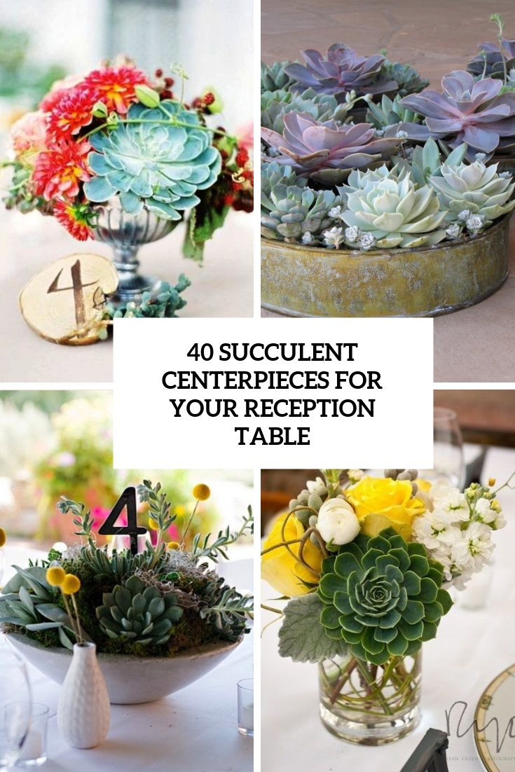 40 Succulent Centerpieces For Your Reception Table