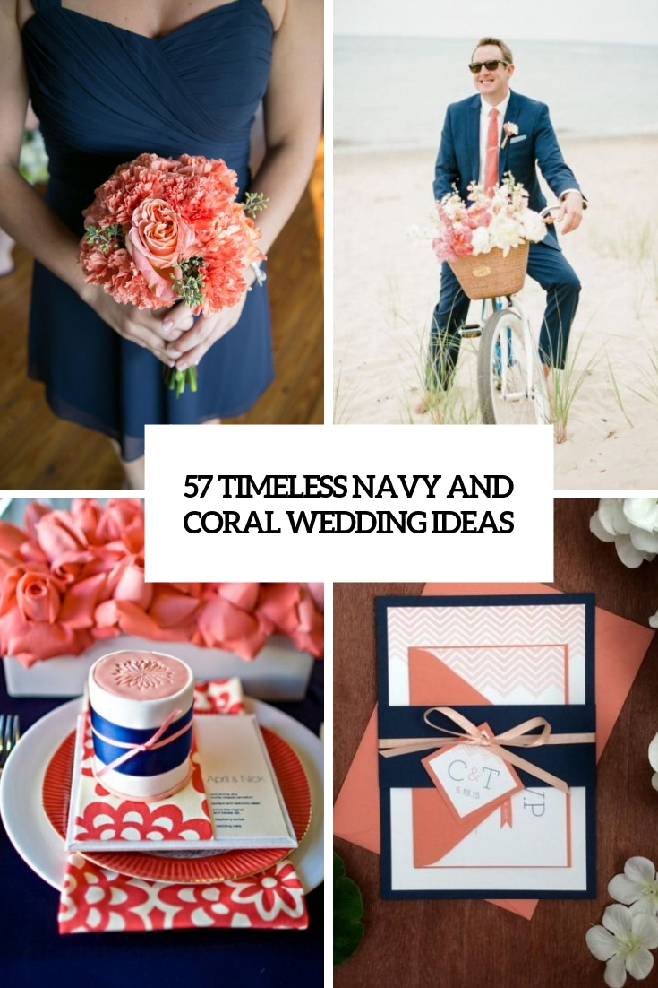 57 Navy And Coral Wedding Color Palette Ideas