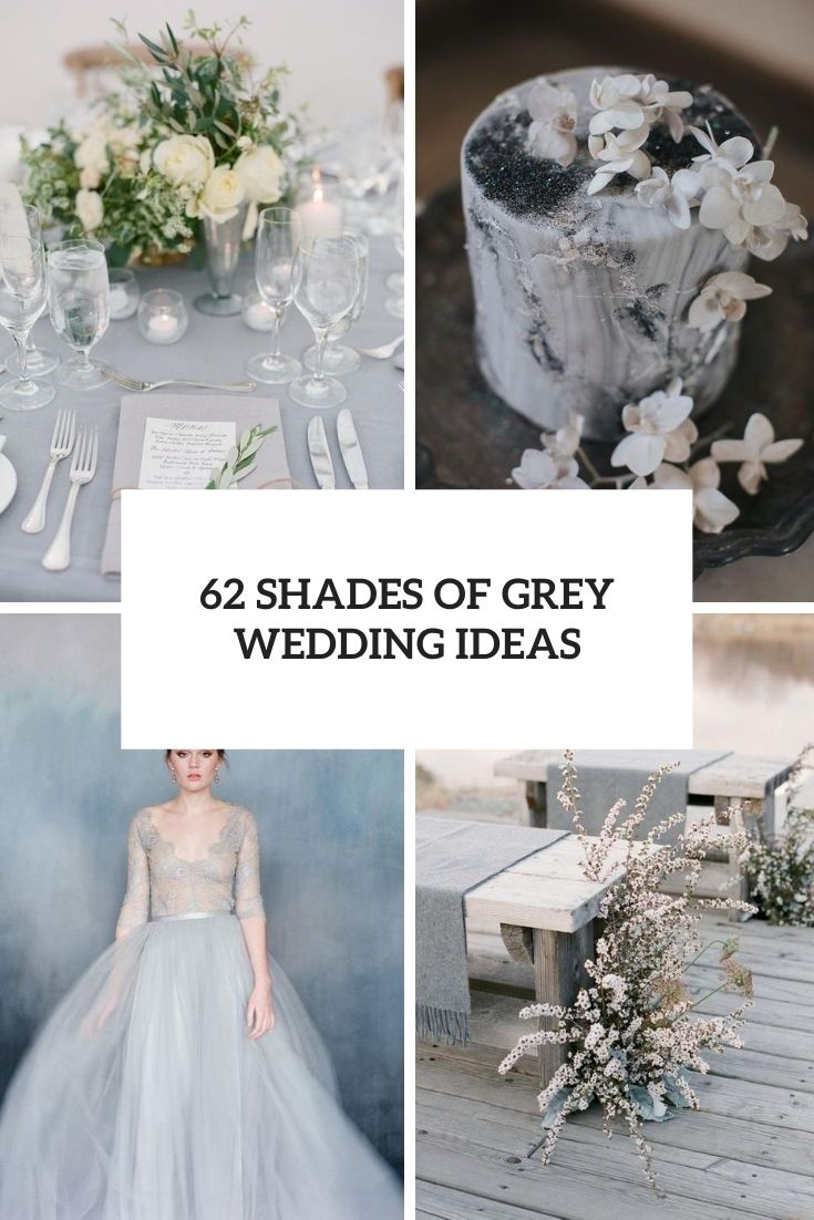 62 Shades Of Grey Wedding Ideas
