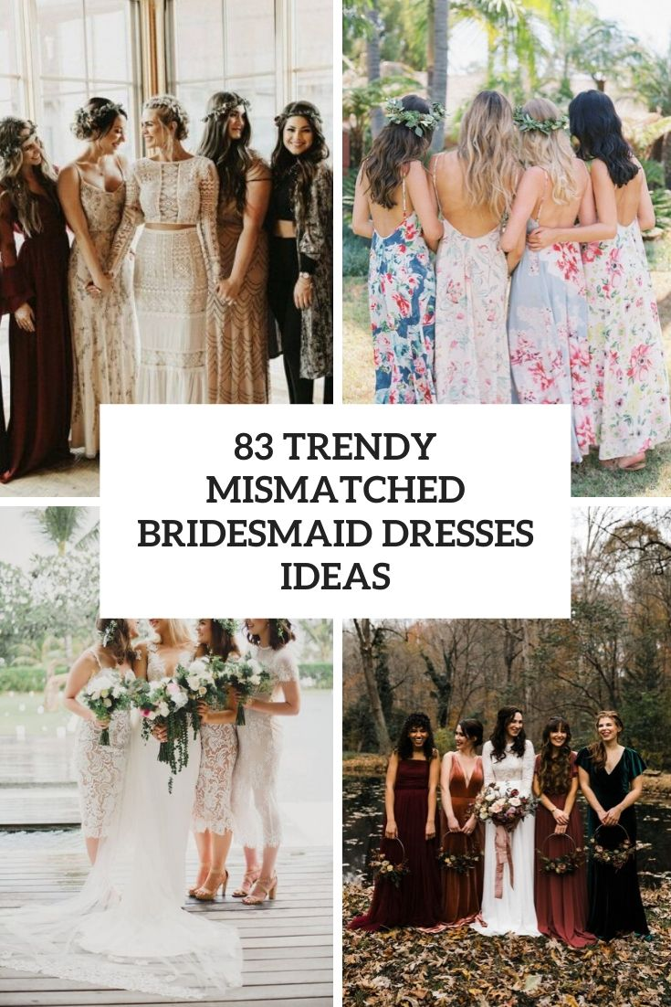trendy mismatched bridesmaid dresses ideas cover
