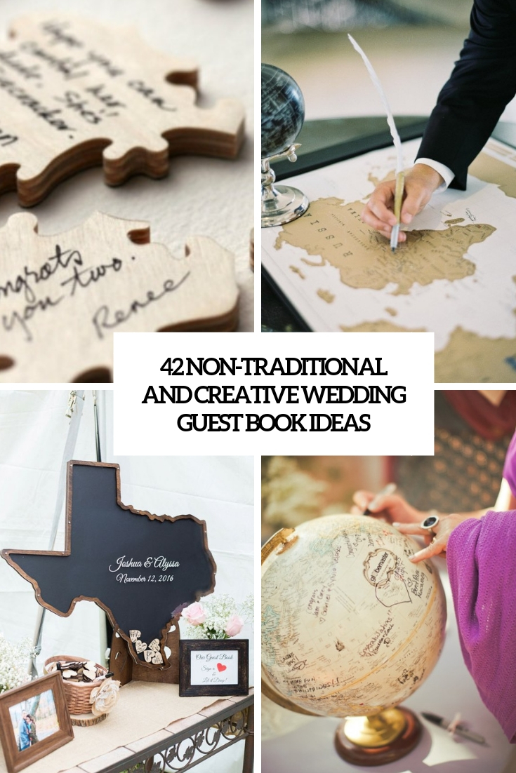42 Non-Traditional And Creative Wedding Guest Book Ideas
