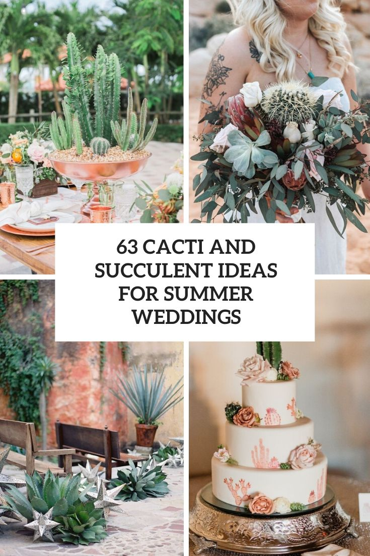 cacti and succulent ideas for summer weddings cover