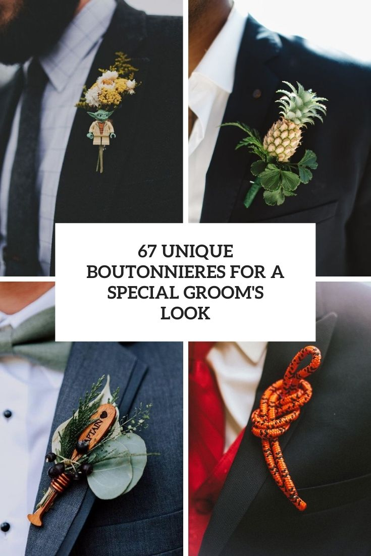 67 Unique Boutonnieres For A Special Groom's Look